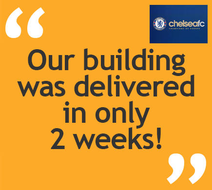 Our building was delivered in only 2 weeks