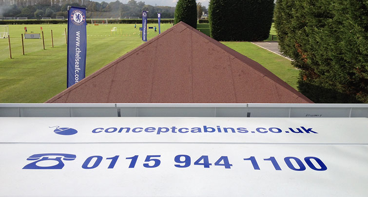 Concept Accommodation modular building at Chelsea Football Club