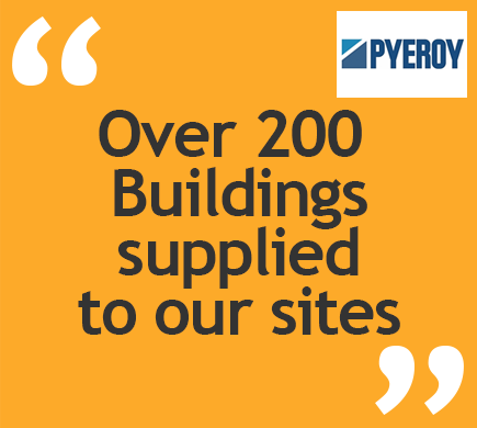Over 200 Buildings supplied to our sites