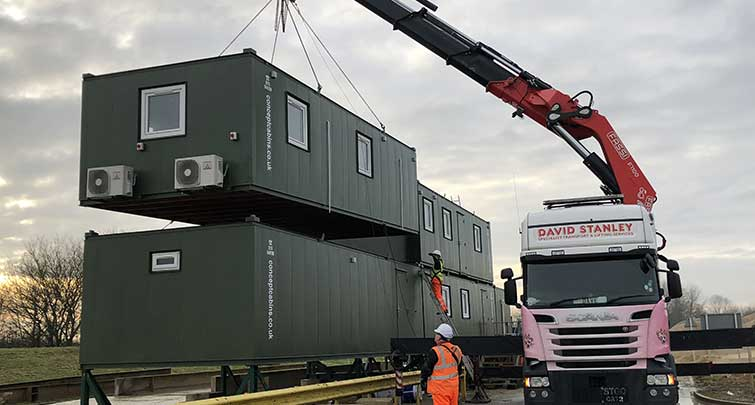 Concept Accommodation - Portable Buildings Installation Crane