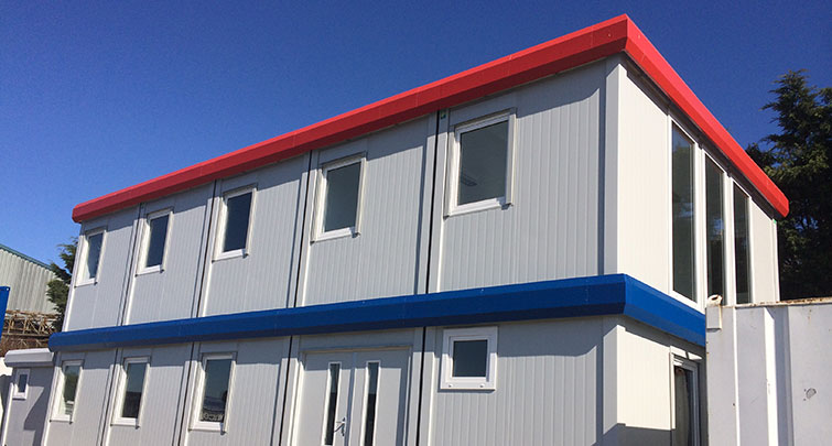 Concept Accommodation - Modular Buildings 2 Storey Exterior