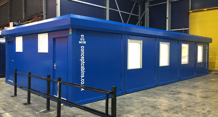 Concept Accommodation - Modular Building in warehouse