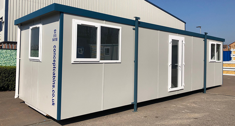 Concept Accommodation - Portable Building 32ftx10ft Plastisol Unit, UPVC Door and Windows