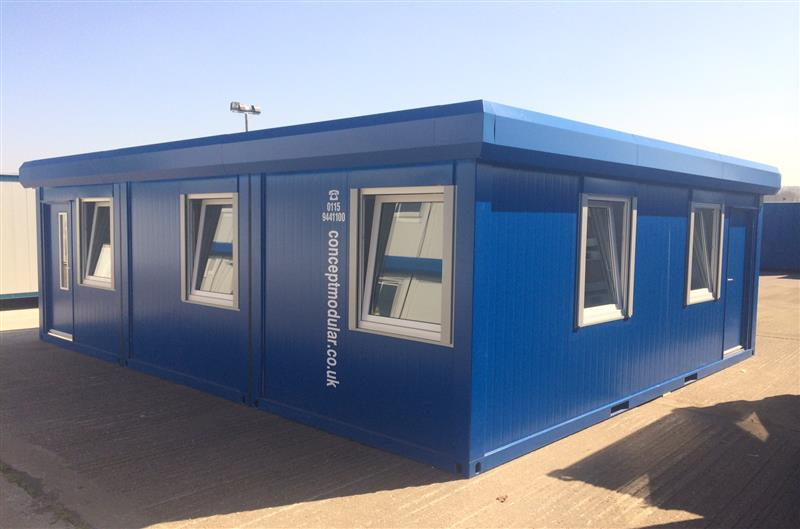 Brand New 24' x 20' / 7.3m x 6m 3 Bay Executive Open Plan Modular Building