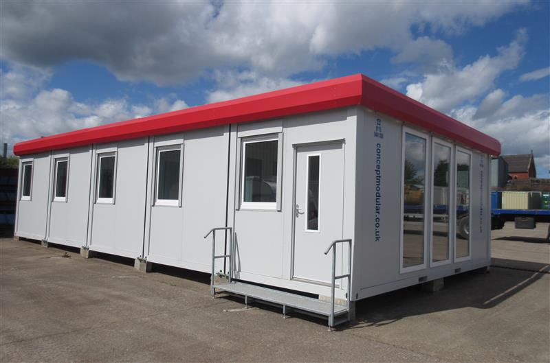 Brand New 40' x 20' / 12m x 6m 5 Bay Modular Building with Kitchen & WC's