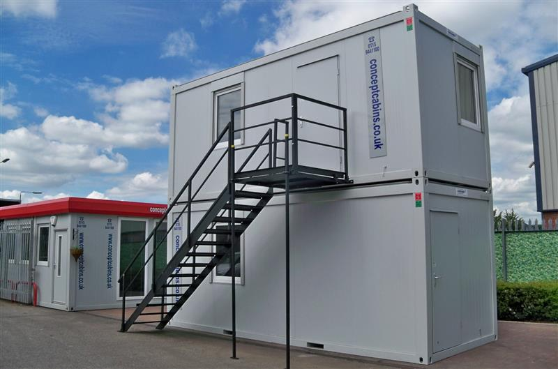 Brand New 2No. 20' x 8' / 6m x 2.4m Anti-Vandal Units with Staircase