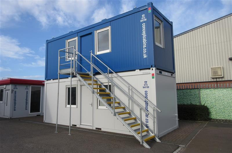 Brand New 2No. 24' x 8' / 7.3m x 2.4m Anti-Vandal Units with Staircase