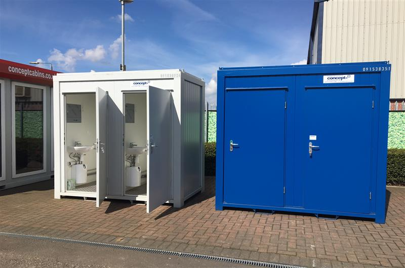 BRAND NEW - Twin Toilet Units, Blue & Grey & Green in Stock! (Twin WC)