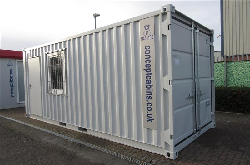 Brand New – 20' x 8' Steel Container Workshop with Electrics, Door & Window