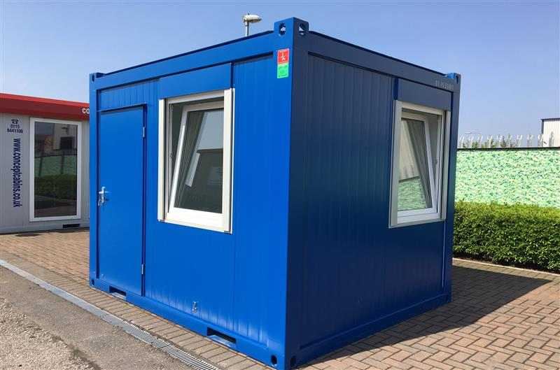 Brand New 10' x 8' / 3 x 2.4m Anti-Vandal Canteen, Available in Blue & Grey