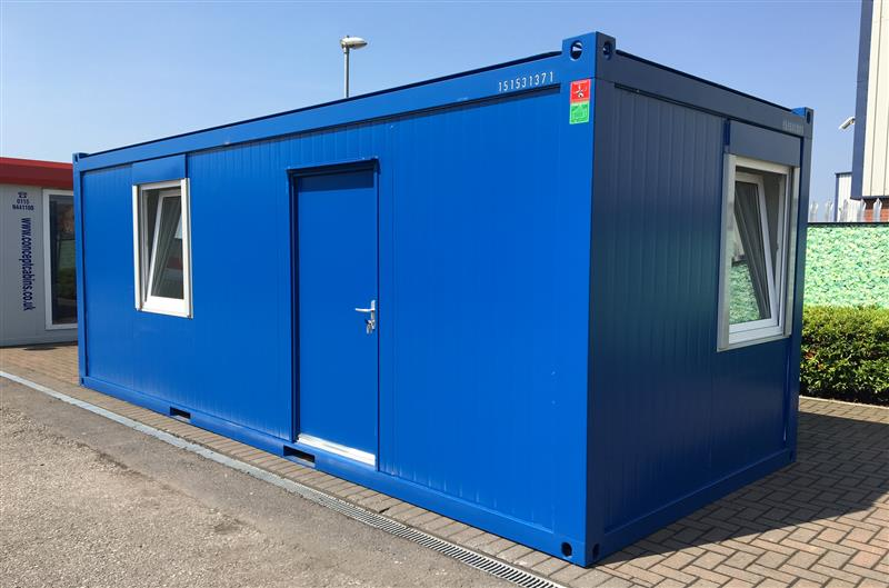 Brand New 20' x 8' / 6 x 2.4m Anti-Vandal Canteen Units in Blue & Grey