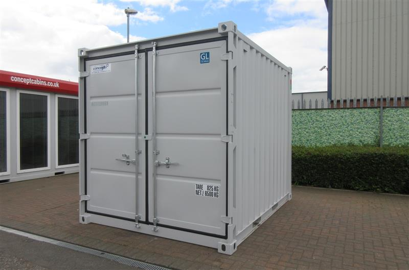 Brand New – 10' x 8' Steel Secure Containers, BLUE, GREY & GREEN IN STOCK!