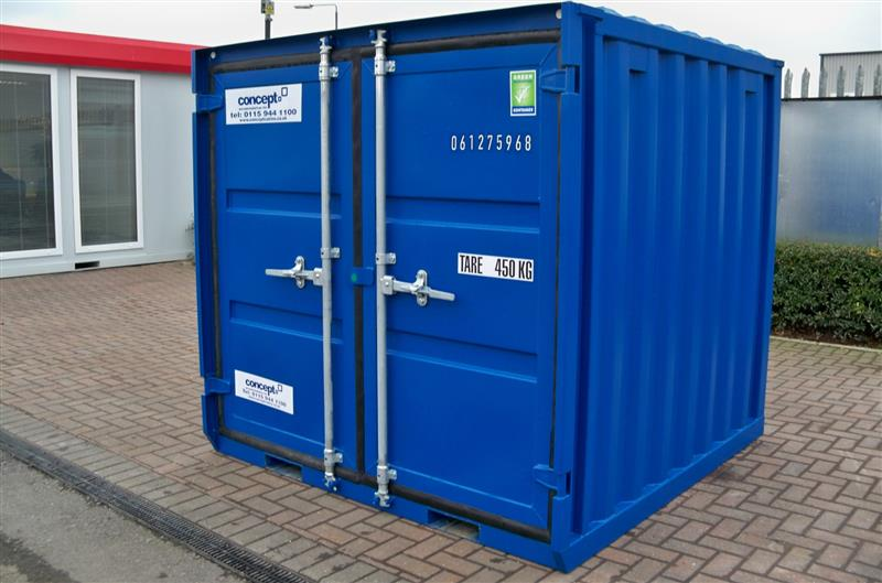 Brand New – 6' x 6' Steel Secure Containers, BLUE, GREY & GREEN IN STOCK!