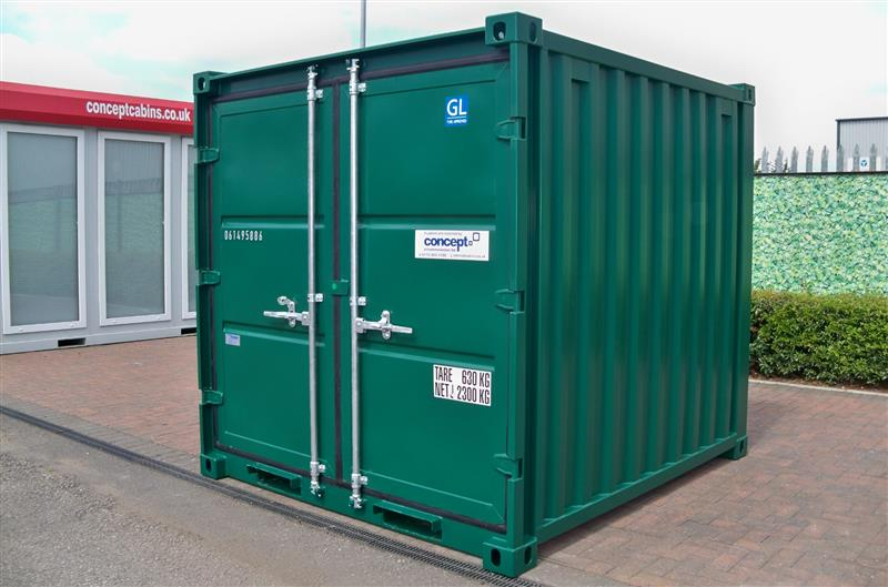 Brand New – 8' x 8' Steel Secure Containers, BLUE, GREY & GREEN IN STOCK!